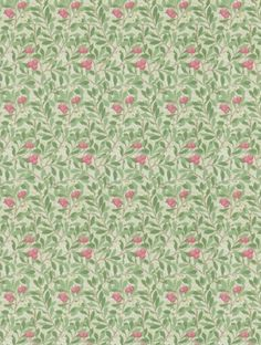 Arbutus++in+olive+/+pink+is+taken+from+Morris+and+Co's+Morris+Archive+III+wallpaper+collection.