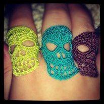 Crochet Skull rings