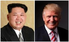 A combination photo shows a Korean Central News Agency (KCNA) handout of North Korean leader Kim Jong Un released on May 10, 2016, and Republican U.S. presidential candidate Donald Trump posing for a photo after an interview with Reuters in his office in Trump Tower, in the Manhattan borough of New York City, U.S., May 17, 2016. REUTERS/KCNA handout via Reuters/File Photo & REUTERS/Lucas Jackson/File Photo