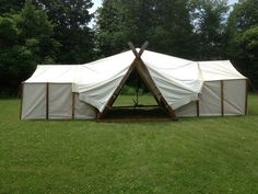 Two Roman wall tents with wedge center - Baron Bragg's Tent