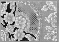 Floral and grid work