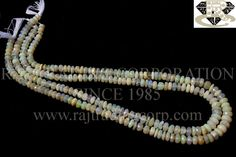 Ethiopian Opal Faceted Roundel (Quality A) Shape: Roundel Faceted Length: 36 cm Weight Approx: 9 to 11 Grms. Size Approx: 4.5 to 6.5 mm Price $75.00 Each Strand
