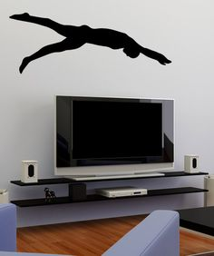 Vinyl Wall Decal Sticker Swimmer Silhouette #OS_MB576 | Stickerbrand wall art decals, wall graphics and wall murals.