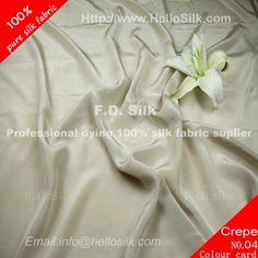 www.silkfabricwholesale.com/12mm-silk-crepe-de-chine-fabric-champagne.html  F.D. silk most professional 12mm silk crepe de chine fabric-champagne supplier.