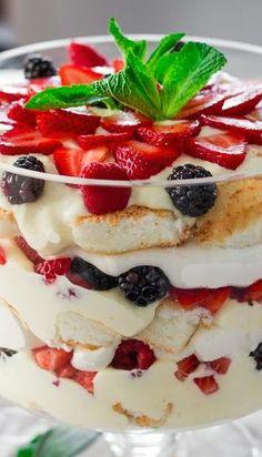 Healthy angel food cake trifle recipe