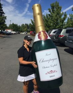 Inflatable Champagne Bottle High Quality with Solid Bottom