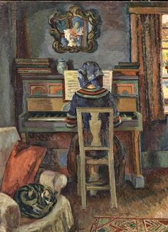 A detail of 'Girl at the Piano', 1940 by Duncan Grant
