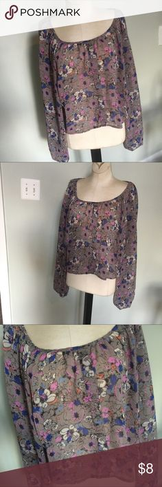 Candies Sheer Top Sz L Nice condition. Candie's Tops Blouses