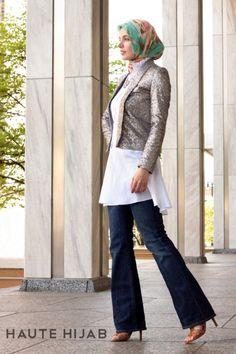 haute-hijab-white-flared-shirt-dress-sparkly-blazer-hijab-model-deniz-modest-fashion-muslim-hijab-style