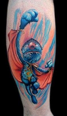 Super Grover to the rescue! #InkedMagazine #SuperGrover #tattoo