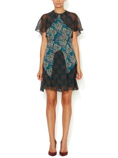 Praire Paisley Silk Dress from Anna Sui on Gilt