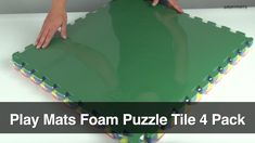Use Types: Kid's Playrooms, Basement Floors, Playroom Flooring, Preschool Floor Tiles  Our 1/2 inch thick interlocked foam play mats feature four puzzle matting pieces in a single pack. Use these foam play mats in the home, at a daycare, or at school. Easily combine them by simply popping them together as if assembling puzzles. Each playmat pack comes with one puzzle tile of each of the following primary colors: blue, yellow, red, and green.