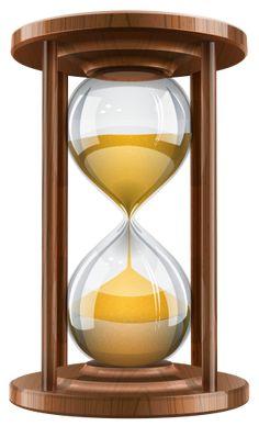 Wooden Sand Clock PNG Clip Art