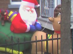 Santa being inappropriate with Rudolph