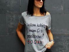 """t-shirt luźny fason """" B-O-G-I-N-I """" + serduszka - AK-Creativo - Koszulki z napisami"""