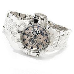 Invicta 50mm Subaqua Noma III Swiss Made Chronograph High Polish Stainless Steel Bracelet Watch