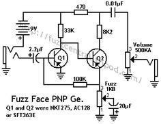 Germanium Fuzz Face Schematic