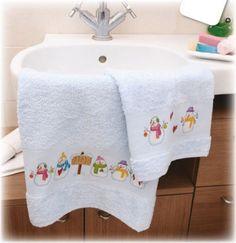 asciugamani pupazzi di neve