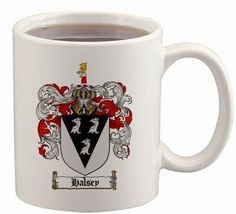 $15.99 Halsey Coat of Arms Mug / Family Crest 11 ounce cup