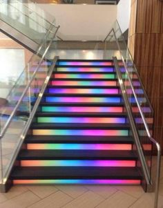 Pretty awesome stairs in a hotel Neon Room, Cute Room Decor, Aesthetic Room Decor, Girl Bedroom Designs, Staircase Design, Dream Rooms, Cool Rooms, House Rooms, Stairways