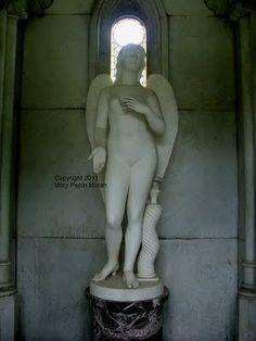 Sometimes the art is hidden.  Statue inside a family mausoleum in Mt Olivet Cemetery, Nashville TN