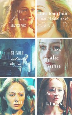 Very fair was her face, her long hair was like a river of gold. Slender and tall she was, strong she seemed. Stern as steel, a daughter of kings. #lotr #eowyn
