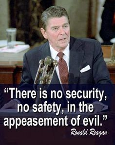 Ronald Reagan one strong leader. We need more men like him.