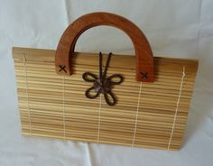 Items similar to Vintage Wood Handbag / Purse - Natural Wood and Fibers - Wooden Handles on Etsy Wooden Handles, Vintage Wood, Natural Wood, Purses, Trending Outfits, Unique Jewelry, Handmade Gifts, Etsy, Fashion