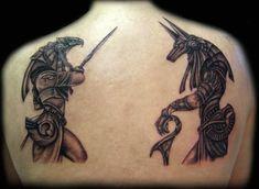 Egyptian Gods Horus And Anubis Black Grey Tattoos Jamie Sapp