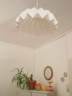 DIY-Origami-Test-Lampe..., Tags DIY + Lampe + Papier + Origami + Faltobjekt