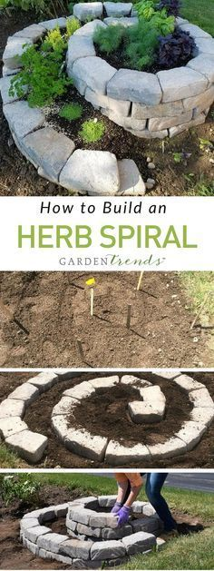 There are a few different ways to approach the construction of a raised spiral bed. The method that we used could help you to build your own raised spiral herb garden.