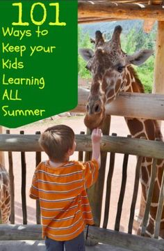 101 AWESOME Ways to Keep Your Kids Learning ALL Summer Long! This is a FANTASTIC & creative list of educational activities for your kids that are super fun! Seriously best parent award ever!
