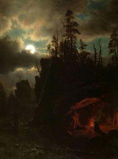 The Trappers' Camp - Albert Bierstadt, 1861.
