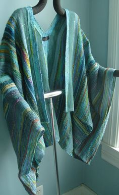 Handwoven Jacket / Shawl / Large / Plus Size / by barefootweaver