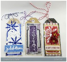Have you ever tried to make your own Christmas tags? Siv kindly made me some tag blanks that I could decorate and I've had fun doing it. Christmas Tag, Christmas Ornaments, Make Your Own, Make It Yourself, Tags, Create, Holiday Decor, Fun, Gifts