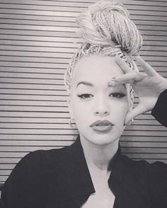 As huge fans of the top knot, especially big and bold ones, we're loving Rita Ora's big, bold, and braided top knot.