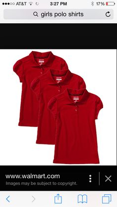 Everyone needs red polo shirts
