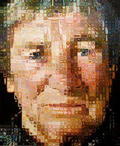 Chuck Close, Agnes, 1998 ( portrait)