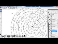 Crochê - Fazendo Gráficos com Photoshop - YouTube