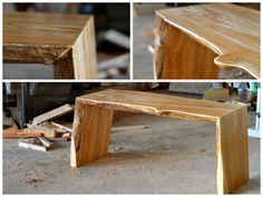 Image of spalted maple folded bench 2