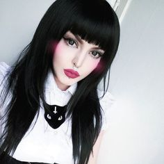 Gothic Long Wig Back Volume Goth Natural Wig Lush Wig - Worldwide Tracked Delivery