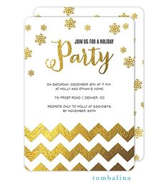 Golden Celebration Holiday Invitation | For All Occasions / Clarkstationery