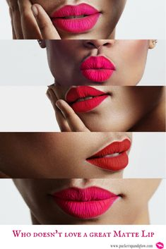 Matte Lipstick is so on Trend.
