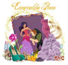 """Esmeralda Prom"" by agust20 ❤ liked on Polyvore featuring Swarovski Crystallized, Pier 1 Imports, YooLa, Dina bar-el, Disney, Waterford, Zac Posen, Aidan Gray, Boucheron and Giuseppe Zanotti"