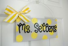 Custom Polka Dot Teacher Door or Classroom by yourethatgirldesigns, $32.00