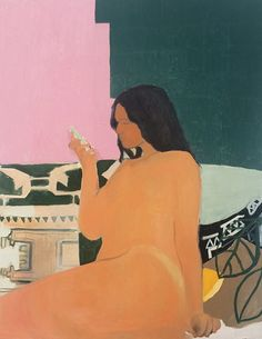 "shantisheaan:  "" Girl waiting, 2015. Oil on canvas, 122 x 91 cm. Shanti Shea An.  """