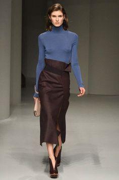 Fall 2017 Salvatore Ferragamo skirt/ color balance 보는 눈은 같네 색조합 멋지다