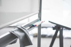 Colored Whiteboard Markers on Whiteboard Marker Tray in Office Free Stock Photo Download