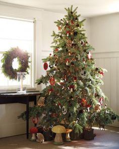 Albero di Natale in stile foresta