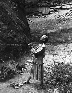 O'Keeffe Sketching In Glen Canyon, 1961 - Todd Webb